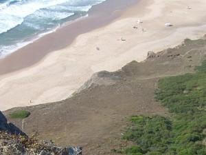 Cordoama - Blick von der Klippe auf Startplatz und Landestrand